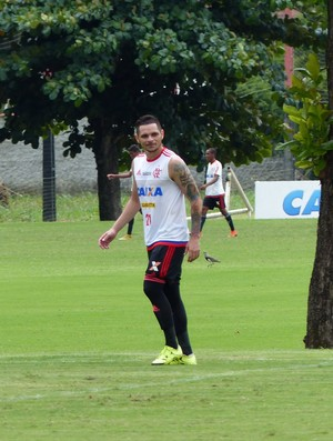 Pará treino Flamengo (Foto: Fred Gomes)