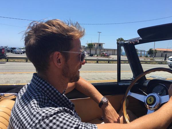 O piloto Jenson Button em foto tirada por sua namorada, a modelo Brittny Ward (Foto: Instagram)