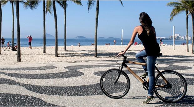 Bicicleta de bambu tem ticket médio entre R$ 900 e R$ 2 mil (Foto: Reprodução)