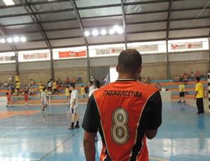 Itaquá perdeu para Praia Grande no handebol masculino (Foto: Thiago Fidelix / Globoesporte.com)