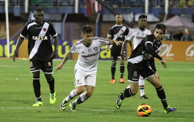 Rafael Sobis e Fagner Vasco x Fluminense  (Foto: Jamira Furlani / Avai FC)