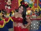 Figurino temático de Priscila Pires usado em festa custou R$ 3 mil