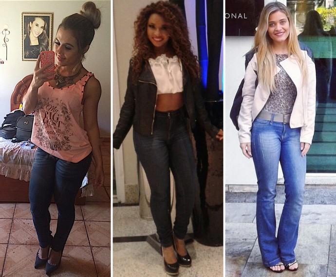 Stéfani Saraiva, Girlene de Sá e Ariane Costa com seus estilos pessoais (Foto: Arquivo Pessoal)