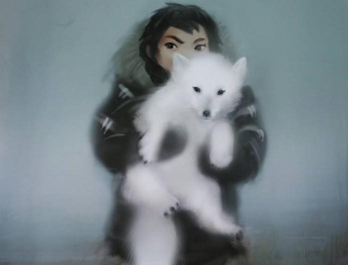 Never Alone: Nuna e a raposa-do-Ártico, sua fiel companheira (Foto: Divulgação)