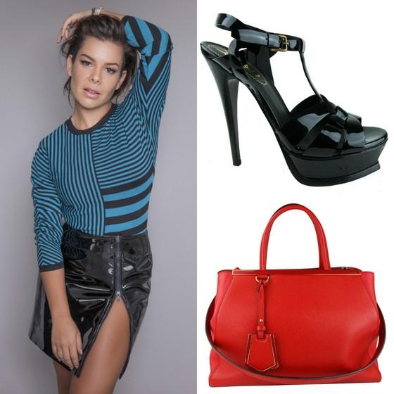 Fernanda Souza está se desfazendo de sandália da Yves Saint Laurent (R$ 3.500) e bolsa da Fendi (R$ 7.900) (Foto: Divulgação)