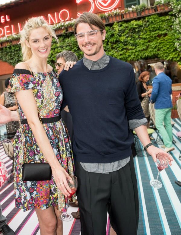 O ator Josh Harnett e sua namorada, a atriz Tamsin Egerton (Foto: Getty Images)
