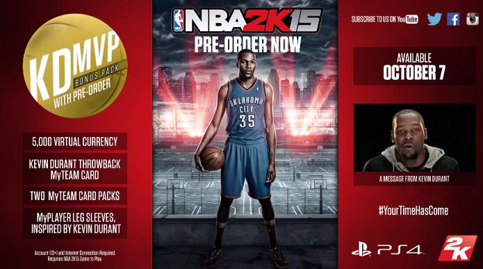 NBA 2K15 foi anunciado oficialmente em trailer (Foto: Reprodução/YouTube)