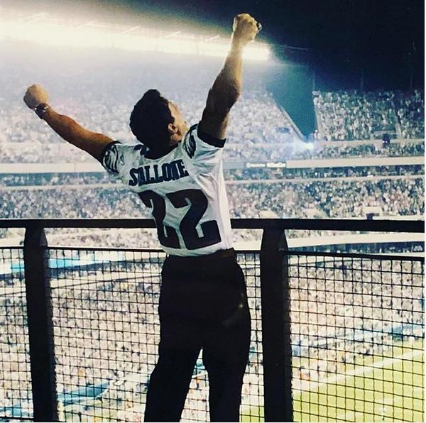 O ator Sylvester Stallone celebrando a vitória do Philadelphia Eagles (Foto: Instagram)