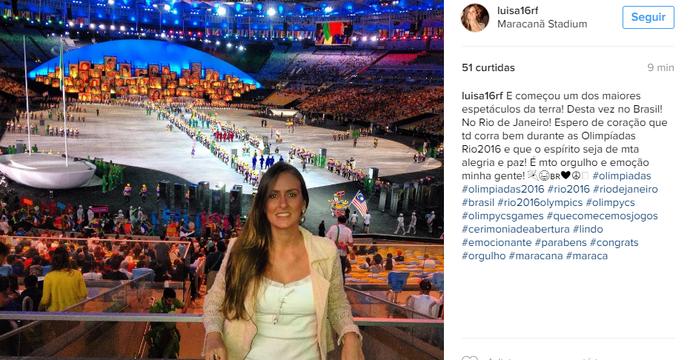 Público movimenta redes sociais com fotos do Maracanã na Cerimônia de Abertura  (Foto: Reprodução Instagram)