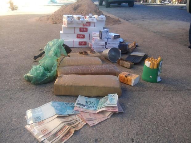 Material apreendido durante operação em Arapiraca (Foto: Divulgação/PC)