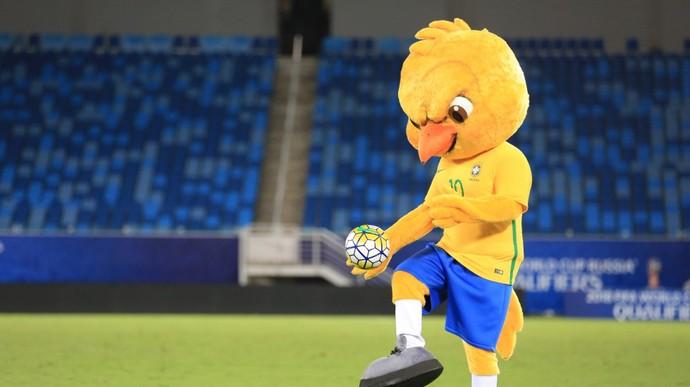 Canarinho, mascote da seleção brasileira  (Foto: Lucas Figueiredo/CBF)