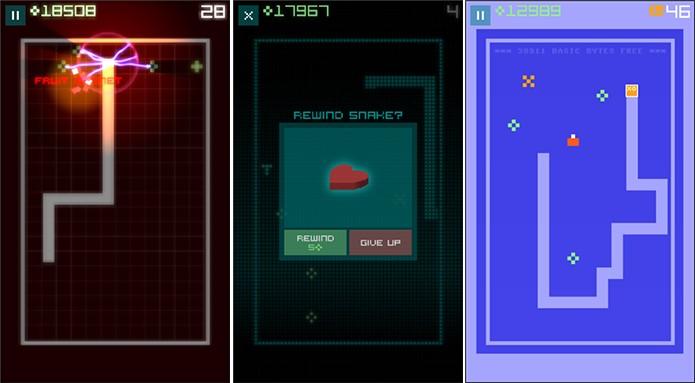 Snake Rewind é um game desenvolvido pelos mesmos criadores do jogo da cobrinha (Foto: Divulgação/Windows Phone Store)