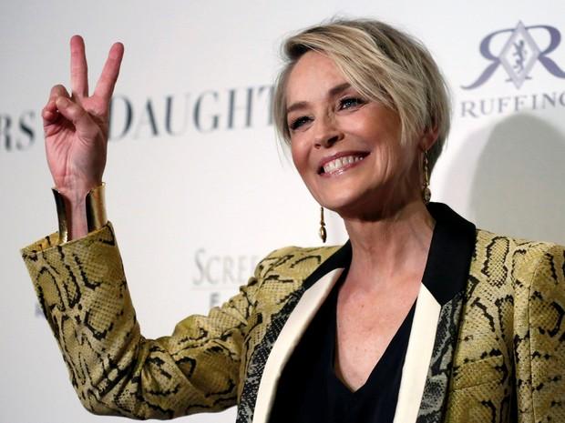 Sharon Stone em première de filme em Los Angeles, nos Estados Unidos (Foto: Mario Anzuoni/ Reuters)