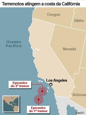 mapa terremoto california 14/12 (Foto: 1)