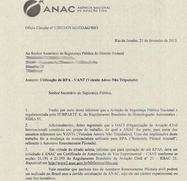 Anac alertou polícias de que voo de drones precisa de autorização (Foto: Reprodução)
