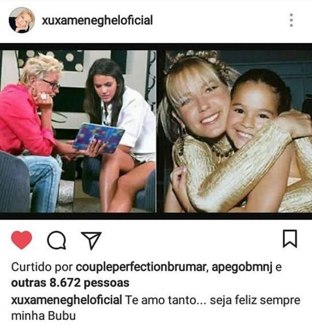 Xuxa e Bruna Marquezine (Foto: Reprodução/Instagram)