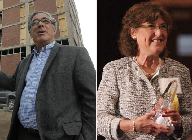 Larry e Jane Glazer, conhecido e multimilionário casal de Rochester, morreram na queda (Foto: AP)