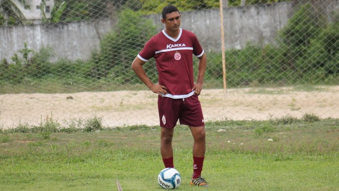 Lúcio Curió atacante do América-RN (Foto: Canindé Pereira/Divulgação)