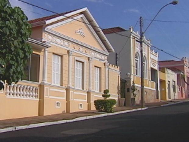 Cafeicultura influenciou na arquitetura das cidades como Bocaina  (Foto: reprodução/TV Tem)