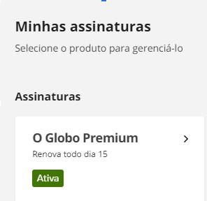 O Globo Premium cancelamento (Foto: O Globo Premium )