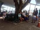 Maré baixa causa parada de 1h30 na travessia para Mar Grande; confira