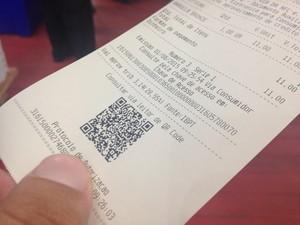 Nota Fiscal ao Consumidor Eletrônica é obrigatória a partir de junho (Foto: Fabiana Figueiredo/G1)