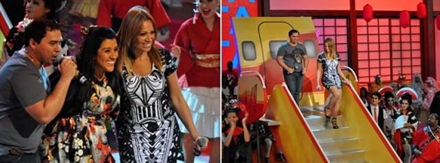 Aviões do Forró pousam no palco de Regina Casé (Foto: Esquenta / TV Globo)