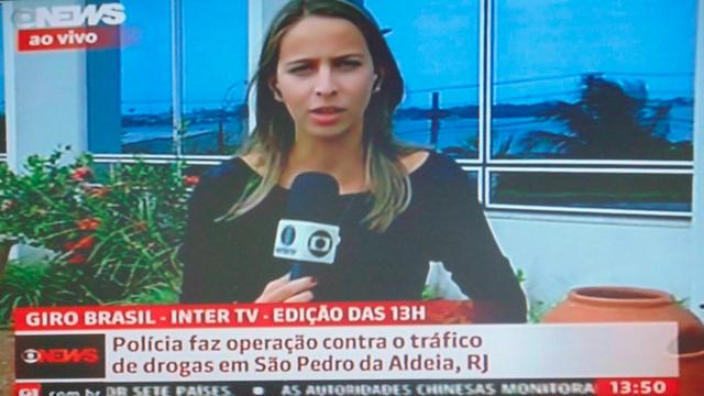 Narayanna Borges participa ao vivo na Globo News (Foto: Reprodução/ GloboNews)