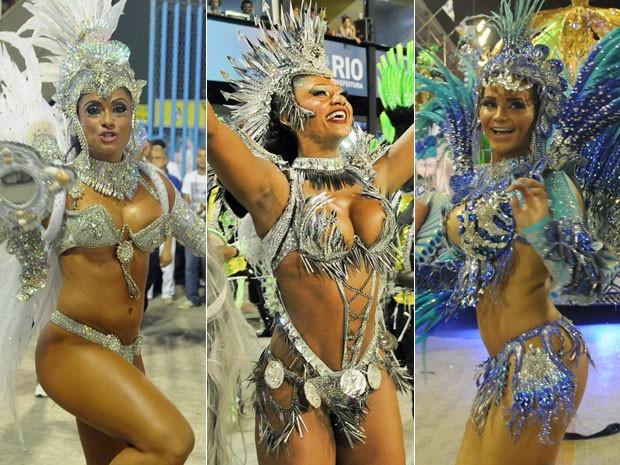 G1 Com Penas De Faisão E Cristais Musas Arrasam No Carnaval Do