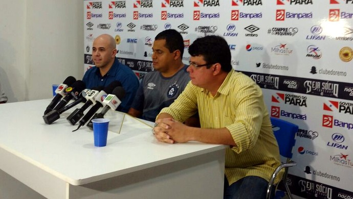 Dirson Neto, Leston Junior e Fred Gomes - Remo (Foto: Pedro Cruz)