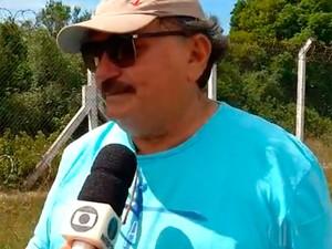 José Vanildo, presidente da FNF, se emocionou ao falar sobre o acidente (Foto: Reprodução/Inter TV Cabugi)