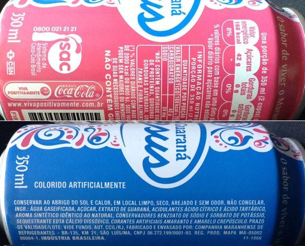 Verso da lata informa que produto é uma marca da Coca-Cola; bebida tem aroma de cravo e canela, mas fórmula exata também é misteriosa (Foto: G1)