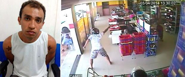 Preso em Monte Alegre, no RN, Robson Antônio da Silva Júnior, de 26 anos, admitiu ter participado de um assalto a um supermercado em João Pessoa onde policial militar foi baleado (Foto: Divulgação/Polícia Civil do RN)