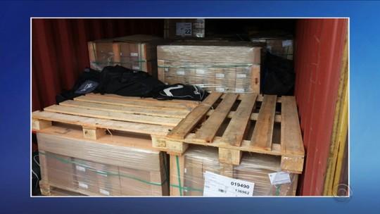 370 quilos de cocaína que iriam para Bélgica são apreendidos em SC