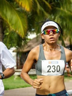 Corredora Silvania Ferreira  (Foto: Maivan Fernanandez)
