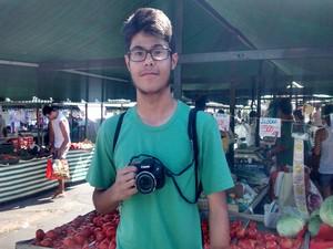 Estudante Fernando Pierre participou do evento pela primeira vez (Foto: Cristina Requena/G1)