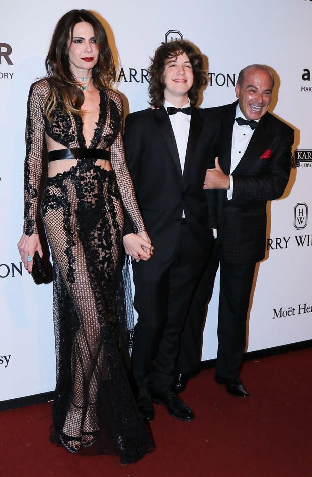 Luciana Gimenez, Lucas Jagger e Marcelo de Carvalho (Foto: Thiago Duran/Agnews)