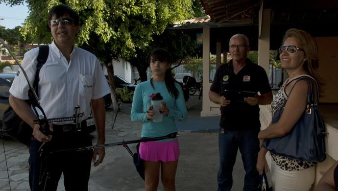 Yasmim Medeiros, atleta, tiro com arco (Foto: Hévilla Wanderley / GloboEsporte.com/pb)