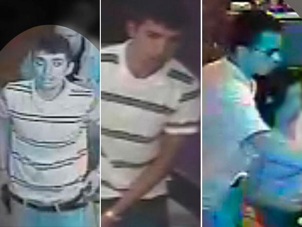 Polícia Civil divulgou imagens dos suspeitos do arrastão em Natal (Foto: Divulgação/Polícia Civil do RN)