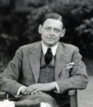 O poeta anglo americano Thomas Stearns Eliot em 1934, fotografado por Lady Ottoline Morrell