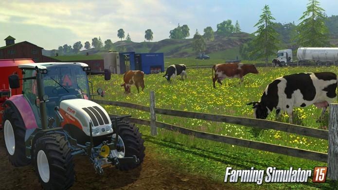 Farming Simulator 15 é o episódio mais recente da bem-sucedida franquia de simuladores de fazenda para PCs (Foto: Divulgação)