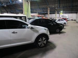 Carros apreendidos pela PF durante operação (Foto: Divulgação)
