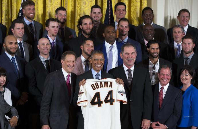 Obama San Francisco Giants (Foto: AP)