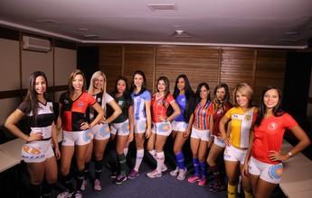 Candidatas a Musa do Candangão visitam redação do Globo Esporte
