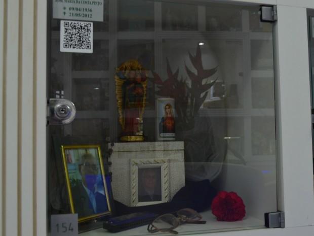 A partir deste sábado (2), os lóculos (compartimentos em que as cinzas são depositadas) vão conter QR Codes  (Foto: Mylena Cooper / Crematório Vaticano)