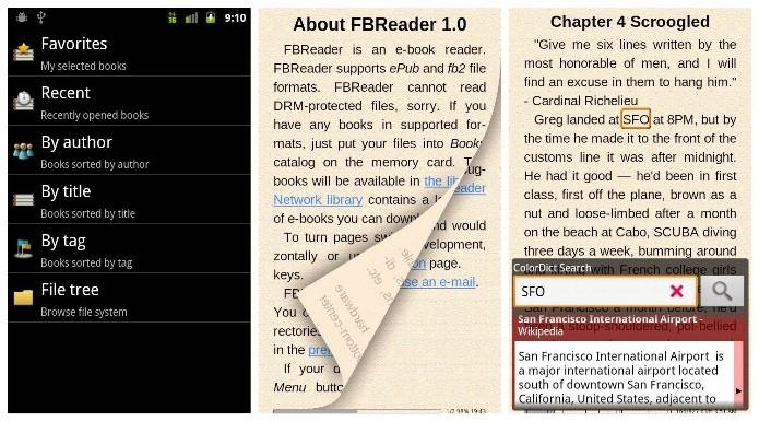 O FBReader oferece livros em diversos idiomas (Foto: Divulgação)