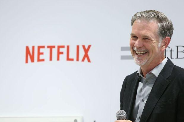 Reed Hastings, CEO da Netflix, em conferência no Japão (Foto: Getty Images/Ken Ishii)