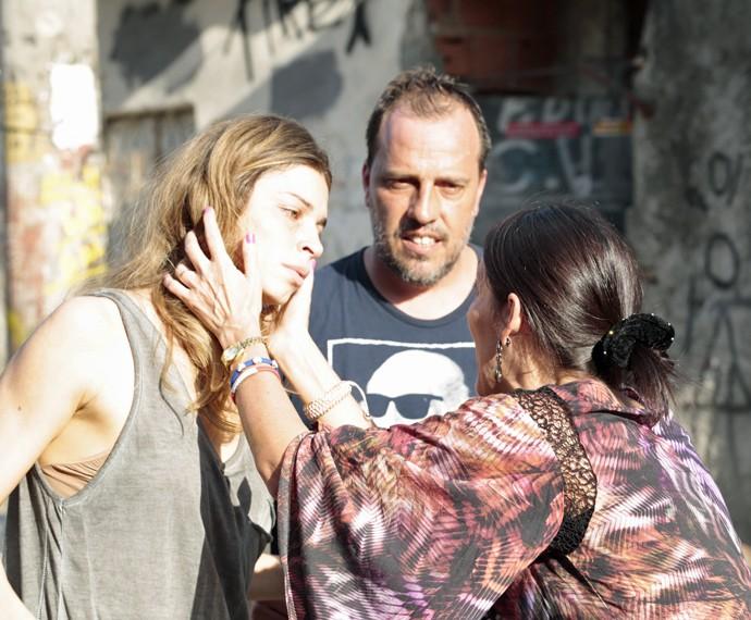 Grazi Massafera e Ana Barroso ensaiam com o diretor André Felipe Binder (Foto: Felipe Monteiro/Gshow)