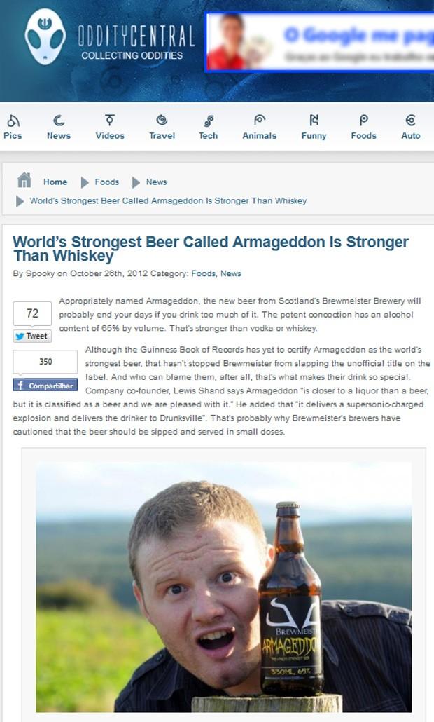 """""""Armageddon"""" é mais forte do que vinho, vodca e uísque (Foto: Reprodução/Oddity Central)"""