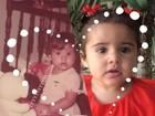 Nívea Stelmann compara foto dela e da filha com um ano de idade